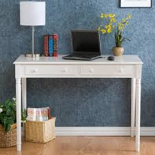 Small Writing Desk With Drawers White Writing Desk With Two Drawers In Rectangular Of
