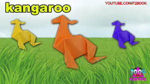 origami kangaroo for kids paper folding f2book videos 120 paper