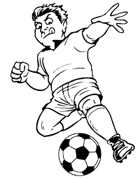 Soccer Coloring Page Serious Player Ready To Kick Soccer Coloring Page
