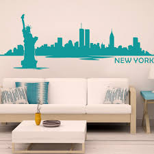 aliexpress com buy york city skyline silhouette wall decal