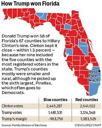 2016 Presidential Election Map People S Pundit Daily by Donald Trump Won Florida In Rural And Mid Sized Counties