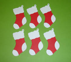 6 christmas stocking embellishments die cuts for christmas
