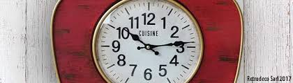 horloges cuisine horloge de cuisine retrodeco
