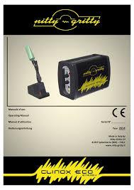 manuale d uso operating manual manuel d utilisation nitty - K Chenger Che Neutralisieren