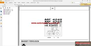 massey ferguson mf 4245 4255 k37008 k38103 tractor parts catalog