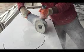 cutting countertop for sink undermount sink hole cut out quartz countertops