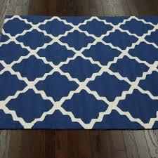shop navy blue outdoor trellis outdoor rug 4ft x 6ft nuloom