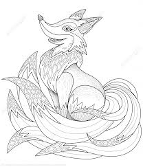adorable fox design zentangle coloring page art u0026 culture free