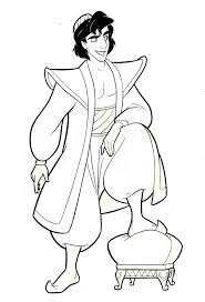 walt disney coloring pages prince aladdin walt disney characters
