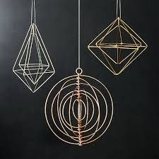 wire ornaments cb2