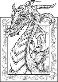 Dragon Coloring Pages For Adults At Coloring Book Online Colouring Pages