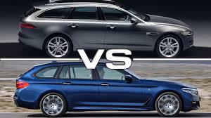 2017 jaguar xf sportbrake vs 2018 bmw 5 series touring youtube