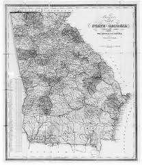 Georgia Map With Cities Hargrett Library Rare Map Collection Frontier To New South