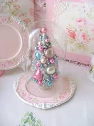 mini tree with pastel vintage ornaments pictures photos and