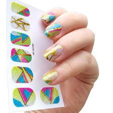 aliexpress com buy 16 types new nail sticker rainbow colors 3d