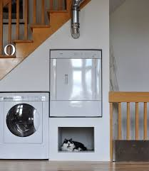 pet room ideas modern frigidaire chest freezer laundry room with built in cat bed