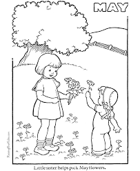 free spring coloring 003