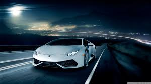 lamborghini huracan sketch lamborghini huracan on the road at night 4k hd desktop