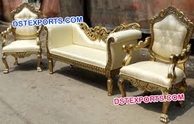 Wedding Stage Chairs Wedding Wooden Hand Carved Metal Furniture Indian Handicrafts