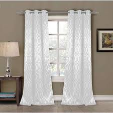 White Contemporary Curtains Modern Curtains U0026 Drapes Window Treatments The Home Depot