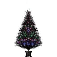 ideas 9 pre lit tree fiber optic tree