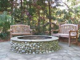 Landscape Fire Pits by Fire Pit U0026 Stone Patio Custom Stone Work By Gunnell Landscaping