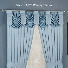 Blue Valance Curtains Primitive Curtains And Country Valances For Home Decorating