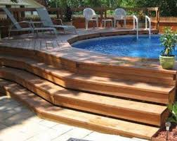 Backyard Designs With Pool Best 25 Above Ground Swimming Pools Ideas On Pinterest Swimming