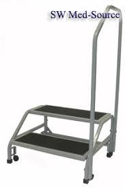 2 Step Handrail Medical Step Stools Foot Platforms Handrail Surgery Hospital Vein Care