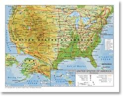 us states detailed map united states physical map geography detailed map of united