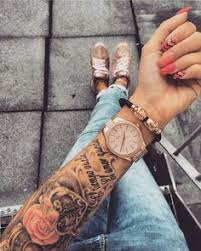 image result for sleeve tattoos womens
