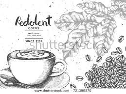 vintage black coffee coffee bean sackcloth stock vector 709129402