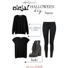 Halloween Costume Ninja Xlast Minute Halloween Costume Diy Ninja Polyvore
