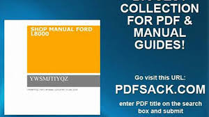 shop manual ford l8000 video dailymotion