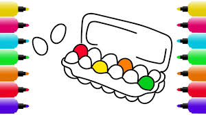 surprise eggs carton coloring pages how to draw surprise eggs