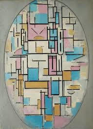 oval composition 1913 14 by piet mondrian