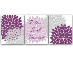 Purple Bathroom Accessories by Lavender Bathroom Etsy