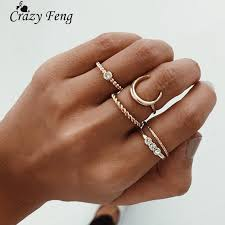 knuckle finger rings images Crazy feng 5pcs lot crystal knuckle ring set boho punk jewelry for jpg