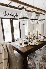 farm style dining room table simple u0026 neutral fall farmhouse dining room liz marie blog