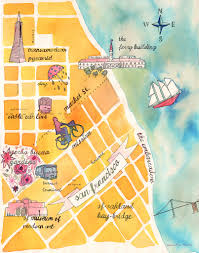 San Francisco Zoo Map by 21 Gorgeous Illustrated Maps Of San Francisco Upout Blogupout Blog