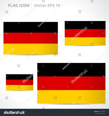 Black And Yellow Flag Germany Flag Template Vector Symbol Design Stock Vector 145155097