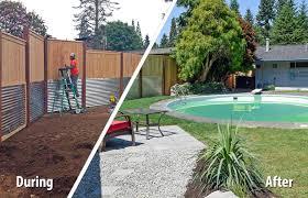 south olympia poolside transformation ajb landscaping u0026 fence