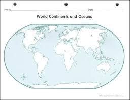 blank continent map worksheet worksheets