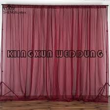 wedding backdrop curtains for sale hot sale burgundy color chiffon fabric panel wedding backdrop