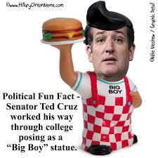 Ted Cruz Memes - ted cruz big boy statue hillary clinton meme