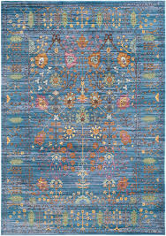 Safavieh Rugs Brilliant Blue Antique Styled Area Rug Val108m Safavieh