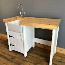 free standing kitchen sink cupboard details about pine freestanding kitchen handmade small mini baby belfast butler sink unit