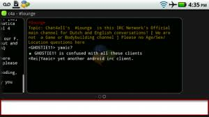android irc irc client chat4allfaq