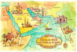 map middle east uk middle east map illustration hemisphere creative uk for cunard