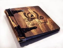 rustic wedding album monogrammed leather photo album 50 best rustic engravings images